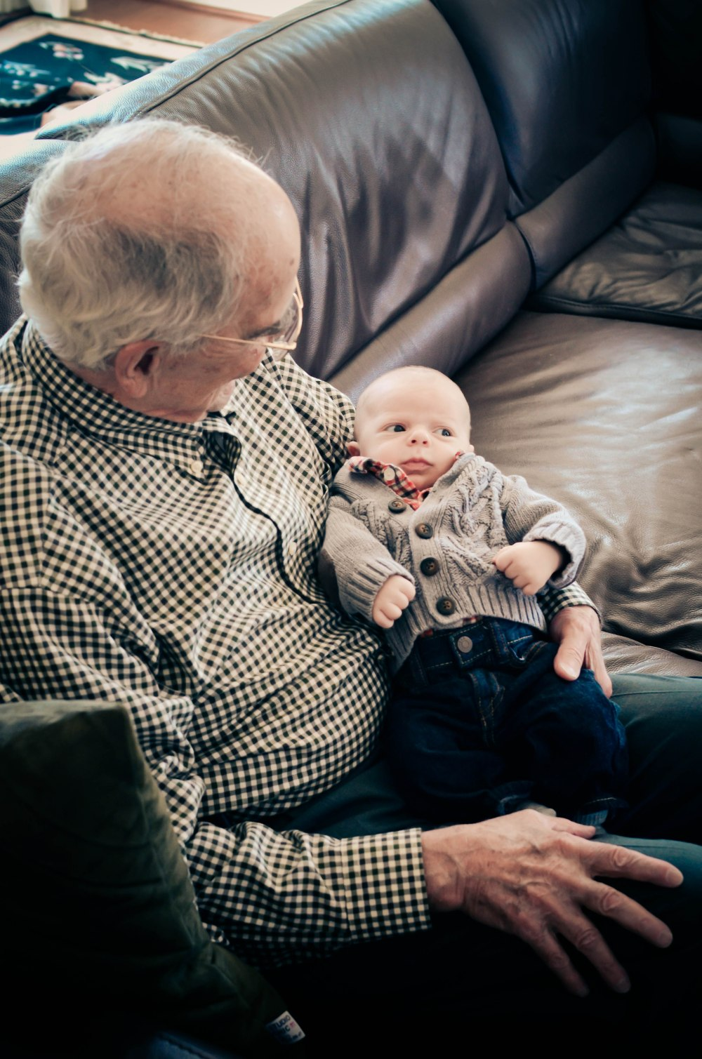 Great gramps has a world of good tales for you kid.